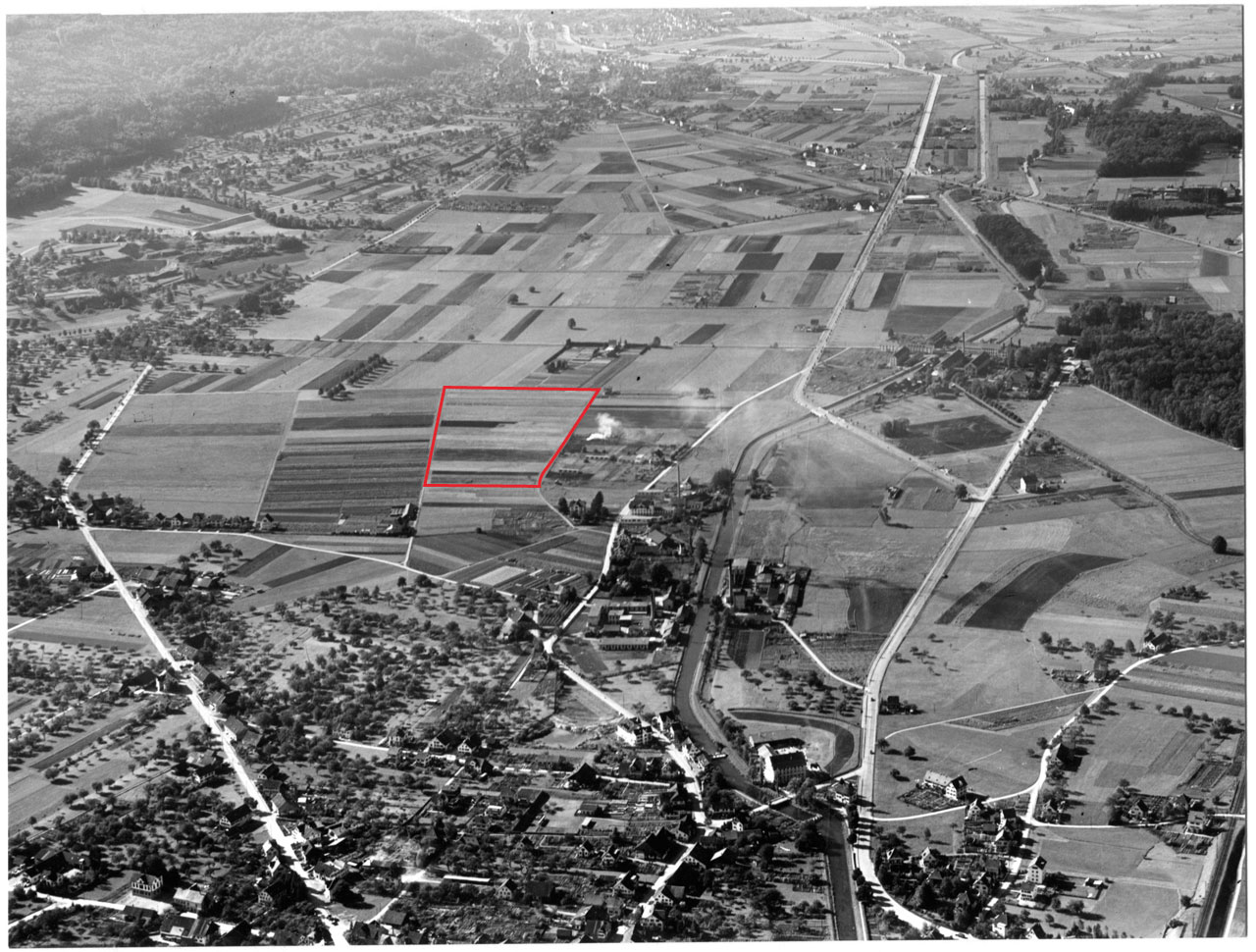 Beerstecher AG Luftaufnahme 1946